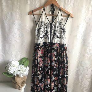 Altar'd State Maxi Dress Boho Floral Halter M
